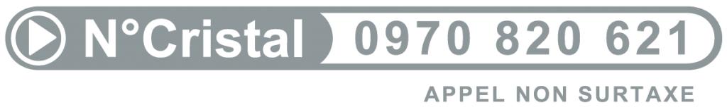 Numéro Cristal : 0970 820 621 (appel non-surtaxé)